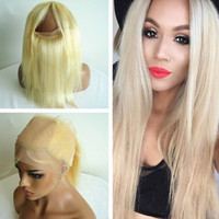 Silky Straight Blonde # 613 360 Lace Band Frontal Encerrável Com Seda Top 4x4 Silk Base 360 ​​Lace Band Frontal Com Baby Hair