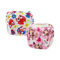 Wholesale Pants For Baby Girls - YIFASHION 2pcs pack Beautiful Swimming Diapers For baby Reusable, Washable Girl Swim Pants 0-2ages