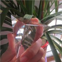 Wholesale Pyramid Faces - BEST !!! Tetrahedron Pyramid 4 Faces 6 Edges 5~7cm Crystal Pyramid   Natural Clear Quartz Crystal Pyramid Reiki Healing