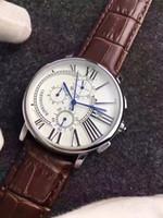 c watch оптовых-Все Subdials рабочий хронограф роскошные часы мужские часы топ бренд Кожаный ремешок Кварцевые наручные часы C для мужчин подарок relojes бесплатная доставка