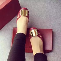 Wholesale gold jelly shoes - Yuf04 Fashion Brand Jelly Shoes Sandals Outdoor Driving Loafers Flat Ballet shoes Sz 35-39