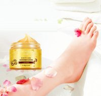 Wholesale BIOAQUA K GOLD Shea Buttermassage Cream Peeling Renewal Mask Baby Foot Skin Smooth Care Cream Exfoliating Foot Mask
