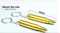ingrosso metallo di pistola a catena chiave-IN MAGAZZINO Pallottola in oro Portachiavi in metallo Fumo Testa a tubo Pistola Pistola a forma di proiettile Tubo manuale