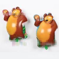 Wholesale Balloon Animals Bear - 72*46cm Large masha and Bear Balloon bear cartoon shape martha Helium Foil Birthday Party Decoration Kids Toy Inflatable Globos