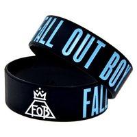 ingrosso braccialetti di roccia-Wristband del silicone della banda di stile di Rock Out Boy 1PC per mostrare come sostengono il vostro idolo