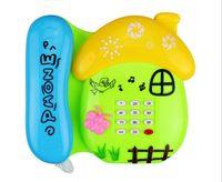 Wholesale Children S Mushroom Toys - Children 's puzzle cartoon light music mushroom children phone toy DA36