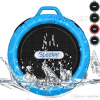 Wholesale C6 IPX7 Outdoor Sports Shower Portable Waterproof Wireless Bluetooth Speaker Suction Cup Handsfree MIC Voice Box For iphone iPad PC Phone