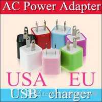 Wholesale Green Wall Charger - DHL 100pcs FOR iPhone7 US Plug Green Point USB Travel Charger wall plug adapter Charging adapter home chargers for Samsung blackberry A3