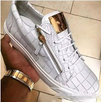 Wholesale Italian Women Shoes Brands - Men women casual shoes fashion sneakers High quality Italy famous italian designer brands luxury Genuine Leather scarpe Plus sizes 35-46