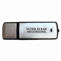 ingrosso batteria flash drive-Vendita all'ingrosso- Mini registratore vocale audio USB da 8 GB Batteria ricaricabile dittafono con chiavetta USB per colloquio di incontro, studio