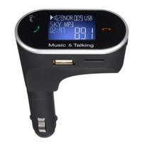 удаленное зарядное устройство для телефона оптовых-FM-передатчик ЖК-автомобильный комплект MP3-плеер Беспроводной модулятор со светодиодным дисплеем Зарядное устройство USB Handsfree + Пульт для смартфона