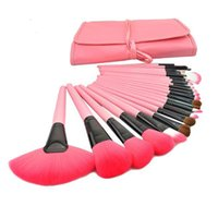 Wholesale Wholesale Makeup Brush Tops - Top Quality 24 pcs Makeup Brushes Portable Brush with 3 Colors Makeup Brushes Makeup Kit by DHL Shipping