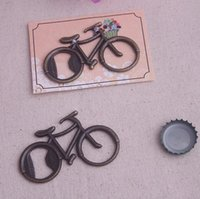 bisiklet şişe açacağı iyilik toptan satış-50 adet vintage bisiklet bisiklet şekilli şarap şişe açacağı düğün parti favor konuk hediye mevcut # 001