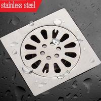 ingrosso odore del bagno-2015 promozione nuovo quadrato filtro per fognatura bagno scarico filtro dos sonhos 304 pavimento in acciaio inox scarico anti-odore ispessimento