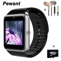 Wholesale Gt Smart - Wholesale- 2017 Pewant Wearable Devices Smart Watch GT08 Android Wear Clock Smartwatch With Camera SIM Smart Health PK DZ09 A1 GD19 GT 08