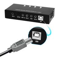 usb ses 7.1 kanal toptan satış-Yüksek Kalite Marka Yeni Kanal 3D 7.1 USB Harici Ses Kartı Ses Kutusu Desteği Dijital Ses Streaming Vista Ile Sürücü CD