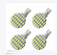 Wholesale W5w Warm - 50PCS Wedge T10 24 SMD LED 194 921 W5W 1210 147 168 192 RV Light Lamp Bulbs White wholesale price