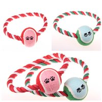 Wholesale Dog Ball Rope Toys - Free Shipping New Adorable Pet Chews Toy Cotton Rope With Ball Animal Toys Pets Supplies Pets Cat Dog Products 121901