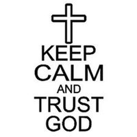 8.5CM * 15CM Mantieni la calma e fidati di Dio Gesù Religione Cross Car Decal Vinyl Sticker Car Styling Accessori
