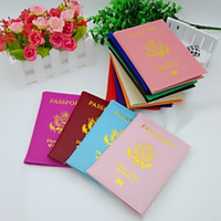 Wholesale passport sleeve online - Fashion Faux Leather ID Card Case United States Of America Protective Sleeve Durable PU Passport Cover For Men And Women kf B