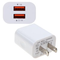 Wholesale ac dc adapter phone online - Universal Dual USB Port AC DC Wall Travel V A Dual USB Wall Charger Home Travel AC Power Adapter For Smart Phone