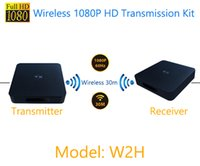 Wholesale Transmission Audio Video - MEASY popular wireless transmission kit full HD 1080P W2H video ,audio and picture transmission to TVS, iphones and computers