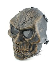 ingrosso maschere tattiche di metallo-WoSporT Desert Legion V4 Maschera Outdoor Recreation Tattile Necessario Full Face Metal Net Mesh Maschera Protettiva, all'ingrosso moda Training Mas