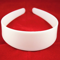 Wholesale Plastic White Hair Band - 20pcs 4cm Width Wholesale New White Plastic Hair Bands Wide Simple Style Hair Hoops Head Bands for DIY