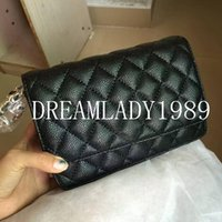 Wholesale Quilted Crossbody Bag - Fashion 19CM Black Quilted Gold Chain Flap Shoulder Bag MINI Crossbody Bags For Women Brand