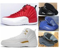 Retro 12 Men Women Basketball Shoes 12s OVO White O Master 12 French Blue Playoffs Red Suede Wolf Cinza Tênis com caixa de sapatos