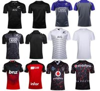 Wholesale New Maillot New Zealand Super Rugby Jersey Crusaders Rugby League Adults Mens Crusaders Rugby Football Shirts