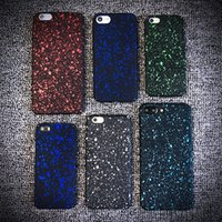 carteira de glitter preto venda por atacado-100 pcs atacado new star preto pc phone case capa para iphone 7 7 plus glitter case para iphone 5 6 6 plus pc duro pc capa co