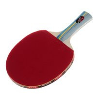 Wholesale White Pong Balls - 2016 NINJA N1002 Sports 1 Star Table Tennis long handle pingpong bat Paddles racket with 2 white Ping-Pong Balls Bottom Price