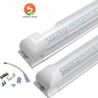 Wholesale High Cover Light - led tube lights 8ft 6ft 5ft 4ft Integrated T8 Tube Lights SMD2835 110lm W High Bright Frosted Transparent Cover AC 85-265V UL DLC
