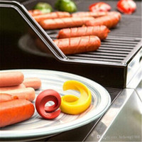 Wholesale sausage meat for sale - Group buy Portable Slice Your Wiener Outdoor BBQ Hot Dog Sausage Cutting Auxiliary Gadget Flexible Durable Sprial Slicers Kitchen Tool yr R