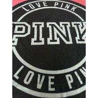 Wholesale Towel Fabrics - Fashion VS Pink Letter Blanket Soft Coral Velvet Rug Beach Towel Blankets Air conditioning Rugs Comfortable Carpet 130*150cm