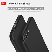 Wholesale Iphone 5c Case Lining - Matte Bright line tpu phone case for iPhone 7 plus iphone 6 6s iphone 5 5s 5c colorful light line tpu case soft