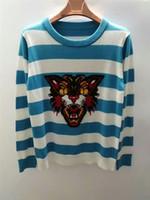 Streifen Pullover Blau Online Großhandel Vertriebspartner