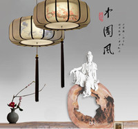 Wholesale Chinese Iron Lanterns - Modern new Chinese style chandelier creative art iron Lantern Restaurant living room bedroom study hand painted Chandelier