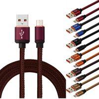 deri kablo toptan satış-1 m 3FT 25 CM Mikro V8 5pin Tipi c Deri alaşım usb veri şarj kablosu hızlı şarj kablosu samsung s4 s6 s7 s8 not 2 4 htc lg