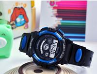 ingrosso migliori orologi elettronici-Orologi elettronici per bambini per bambini Orologio sveglia luminosa calendario 5 colori disponibili orologi sportivi impermeabili per bambini regalo migliore