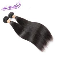 ali insan saçı toptan satış-Toptan-Ali Grace Saç Ürün Perulu Bakire Saç Düz 2 ADET İnsan Saç Uzatma Doğal Siyah Perulu Düz Bakire Saç Örgü