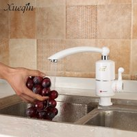 Wholesale Electric Instant Kitchen Water Heater - Wholesale- Xueqin Free Shipping 220V Instant Electric Faucets Kitchen Water Heater Faucet Tap AU Plug Single Hole Handle Basin Electric Tap
