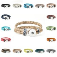 Wholesale Infinity Stretch Bracelet - Stretch bracelet Snap DIY Snaps Buttons jewelry 18mm Charm Bracelets Silver Ginger Snap Jewelry Cheap Infinity Leather Bracelets