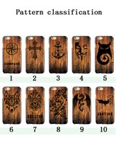 Wholesale 3d rubber phone cases - Ultral thin 3D Relief Painted Wooden Designs Soft Rubber TPU Cell Phone Shell Back Case Cover For iPhone X 7 8plus 6s plus