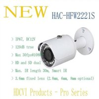 Wholesale Mp Bullet Camera - DAHUA Security Camera CCTV 2MP FULL HD WDR HDCVI IR Bullet Camera IP67 Without Logo HAC-HFW2221S