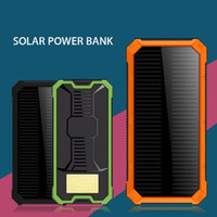 Wholesale External Universal Charger For Cellphones - New Solar Power Bank 20000mAh Dual USB Charging Waterproof Dustproof portable Solar powerbank External Battery for Cellphone