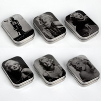 Wholesale Marilyn Monroe Storage Boxes - Vintage Favor Tin Boxes Marilyn Monroe Series Classic Collection Small Tinplate Box Candy Coin Key Gifts Storage Tin Box Packaging Wholesale