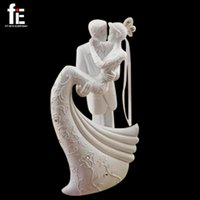 Wholesale Resin Cake Stand - Wholesale-Free Shipping Bride And Groom Resin White Wedding Cake Topper Cake Stand Wedding Cake Accessories Wedding Decoration Casamento