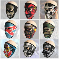 Wholesale skull full face ski mask for sale - Group buy Tactical hood Hunting Dustproof Face masks ghost Skull Mask Motorcycle Skiing Cycling Full Hood party scary cosplay full face mask